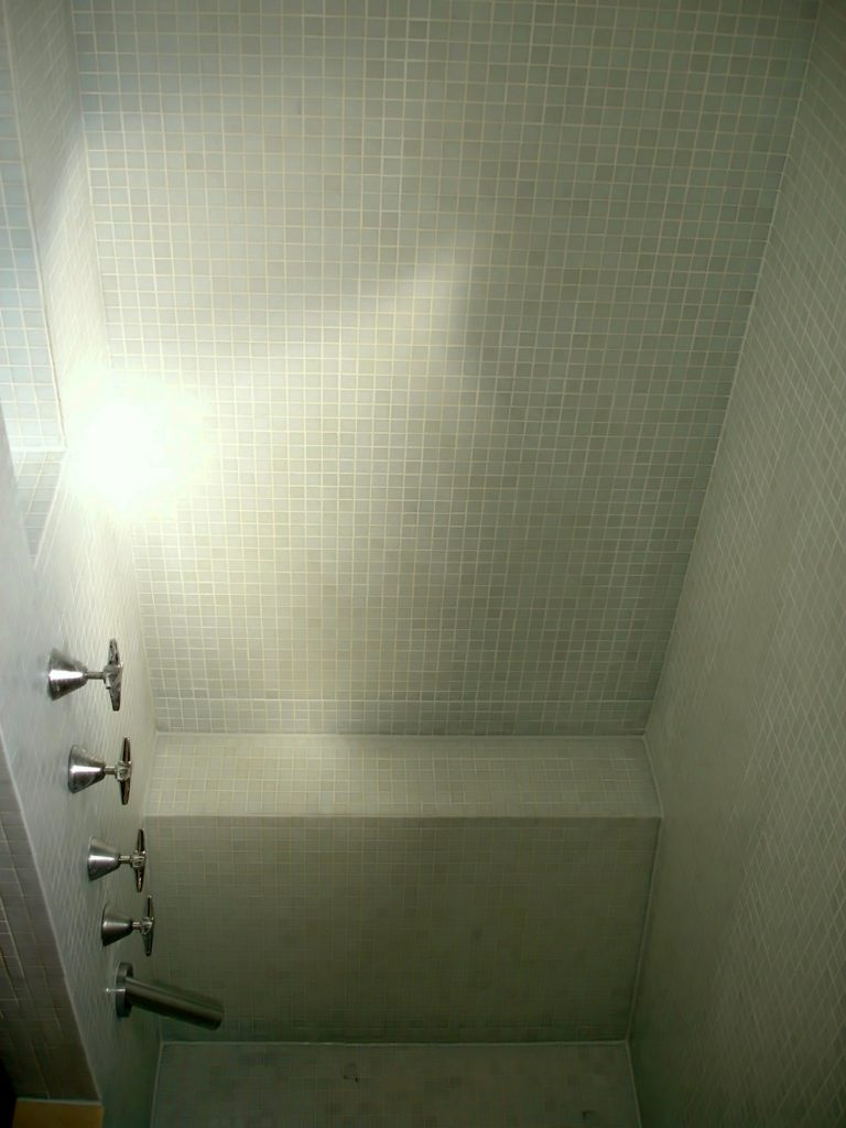 EPG Mosaic tile shower regrout 4/4
