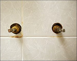Tile penetrations such as these tap holes will allow water ingress into your wall.